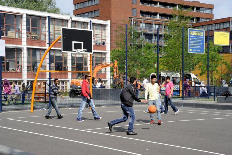 Cruyff en Krajicek Court Mondriaanplein