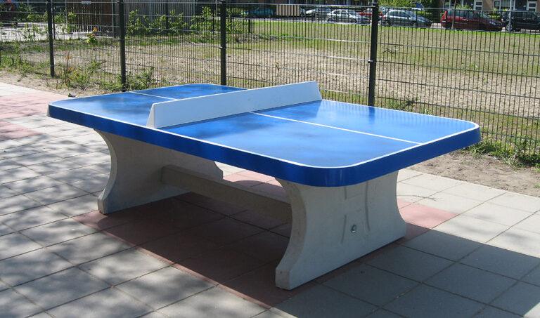 Betonnen tafeltennistafel – afgeronde hoeken